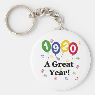 1920 A Great Year Birthday Basic Round Button Keychain