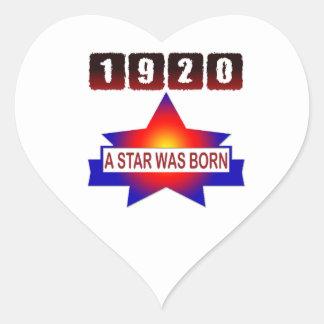 1920 A Star Was Born Heart Sticker