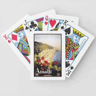 1920 Amalfi Coast Italy Travel Poster Bicycle Playing Cards