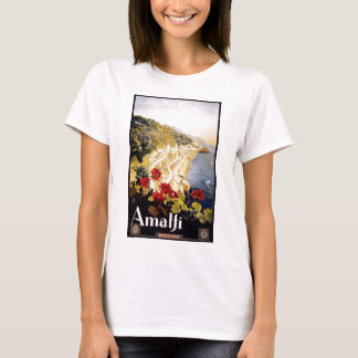 1920 Amalfi Coast Italy Travel Poster T-Shirt