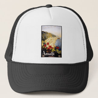 1920 Amalfi Coast Italy Travel Poster Trucker Hat
