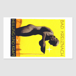 1920 Bad Kreuznach Germany Rectangular Sticker