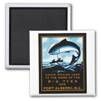 1920 British Columbia Fishing Magnet