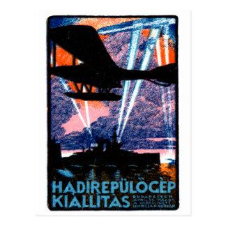1920 Budapest Air Show Poster Postcard