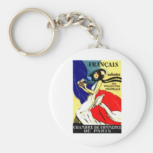 1920 Buy French Products Poster Keychains