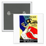 1920 Buy French Products Poster Pinback Buttons