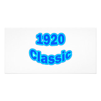 1920 Classic Blue Photo Card Template