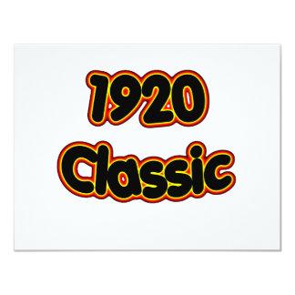 1920 Classic Card