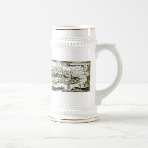 1920 Classic Fairyland Imaginary Map Beer Stein