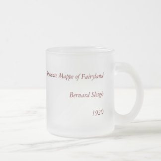 1920 Classic Fairyland Imaginary Map Frosted Glass Coffee Mug
