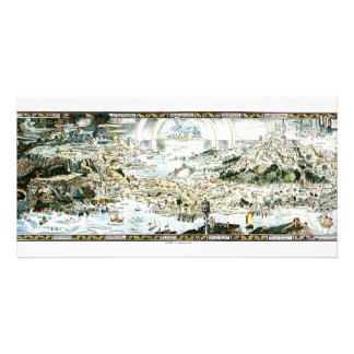 1920 Classic Fairyland Imaginary Map Photo Card