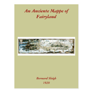 1920 Classic Fairyland Imaginary Map Postcard