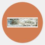 1920 Classic Fairyland Imaginary Map Round Stickers