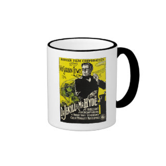 1920 Dr Jekyll and Mr Hyde Vintage Graphic Ringer Coffee Mug
