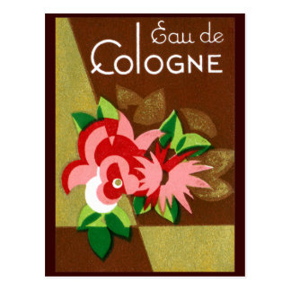 1920 Eau de Cologne perfume Postcard
