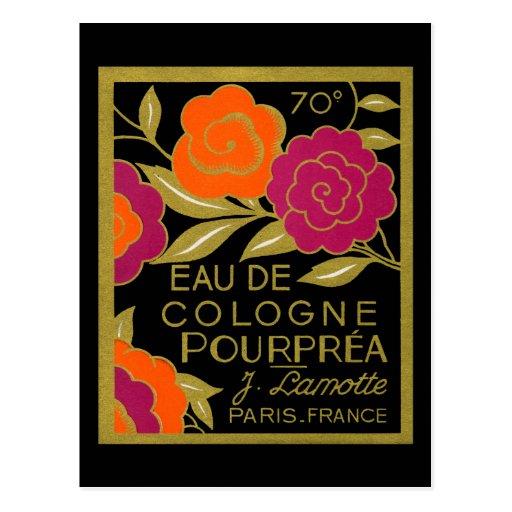 1920 Eau de Cologne Pourprea perfume Post Card