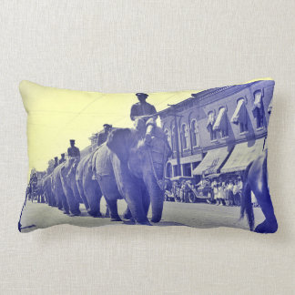 1920 Elephant Circus Parade Little Rock Arkansas Lumbar Pillow