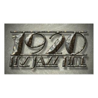 1920 es cartelera de la música de danza del tarjetas de visita