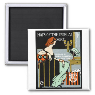 1920 Fashion Poster 2 Inch Square Magnet