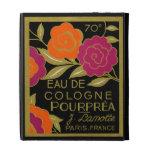 1920 French Eau de Cologne Pourprea perfume iPad Case