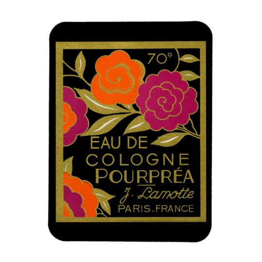 1920 French Eau de Cologne Pourprea perfume Magnet
