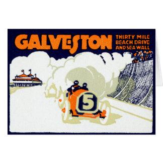 1920 Galveston Texas Auto Race Card