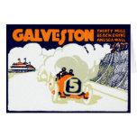 1920 Galveston Texas Auto Race Greeting Card