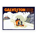 1920 Galveston Texas Auto Race Post Card