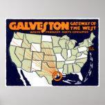 1920 Galveston Texas Poster