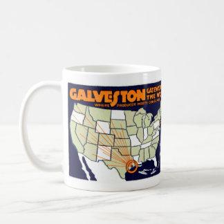 1920 Galveston Texas Poster Coffee Mug