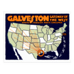 1920 Galveston Texas Poster Postcard
