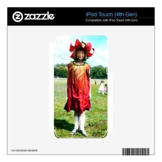 1920 Girl in Flower Costume iPod Touch 4G Decal