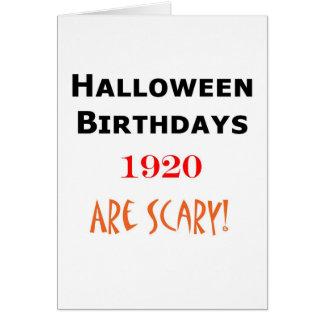1920 halloween birthday card