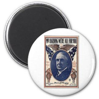 1920 Harding 2 Inch Round Magnet