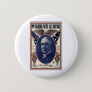 1920 Harding Button