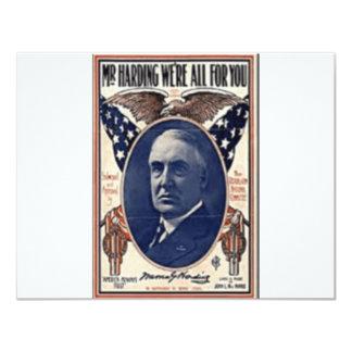 1920 Harding Card