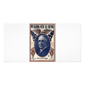 1920 Harding Personalized Photo Card