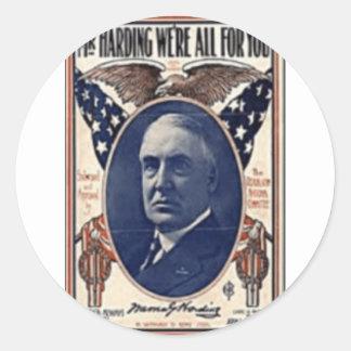 1920 Harding Round Sticker