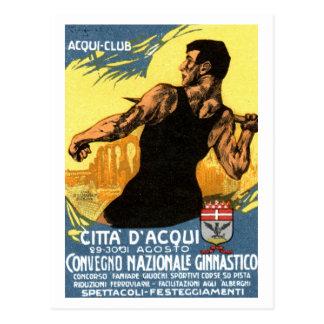 1920 Italian Gymnastics Poster Post Card