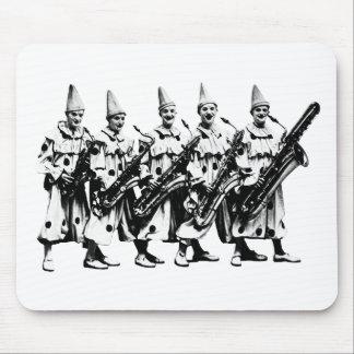 1920 Jazz Clowns, black Mouse Pad