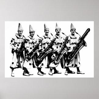 1920 Jazz Clowns, black Poster