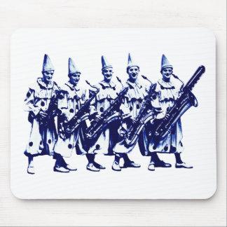 1920 Jazz Clowns, blue Mouse Pad