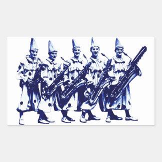 1920 Jazz Clowns, blue Rectangular Sticker