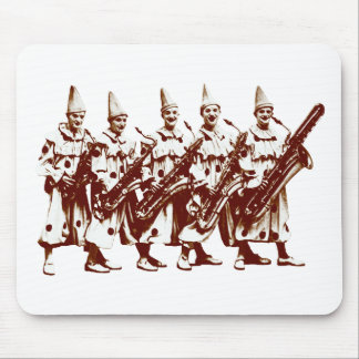 1920 Jazz Clowns, brown Mouse Pad