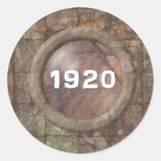 1920 Just A Date Classic Round Sticker