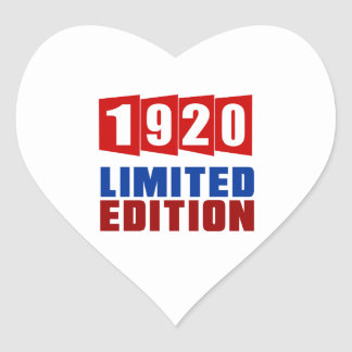 1920 Limited Edition Heart Sticker