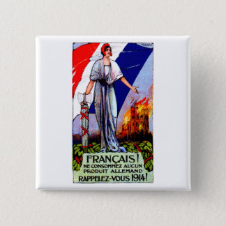 1920 No German Products Poster Button