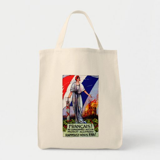 1920 No German Products Poster Canvas Bags