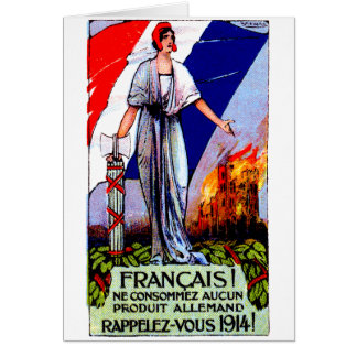 1920 No German Products Poster Greeting Card