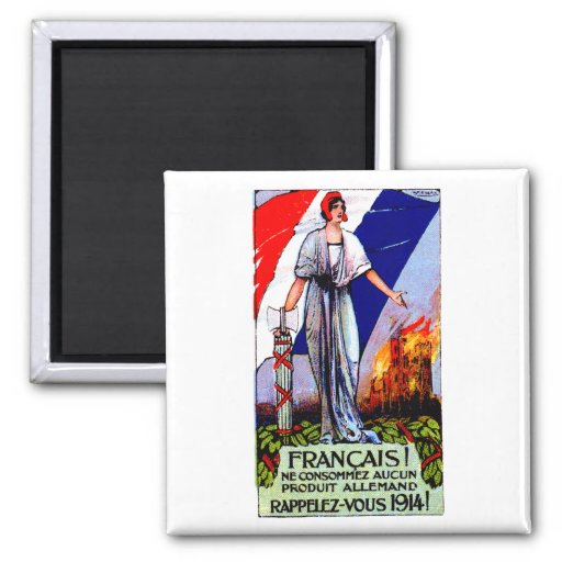 1920 No German Products Poster 2 Inch Square Magnet